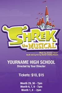 Poster art for Shrek the Musical